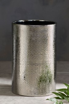 Hammered Effect Ceramic Bin