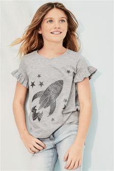 Ruffle Sleeve T-Shirt (3-16yrs)