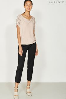 Mint Velvet Scattered Stud Detail Slouchy Tee