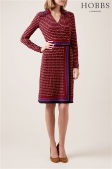Hobbs Raspberry Frida Dress