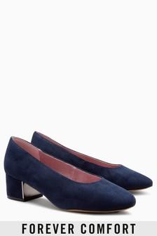 Low Block Court Shoes