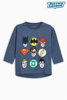 Koszulka z długim rękawem Justice League (3m-cy-6lata)