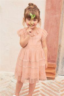 فستان حفلات دانتيل (3 أشهر -6 سنوات)