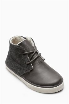 Borg Lined Chukka Boots (Older Boys)