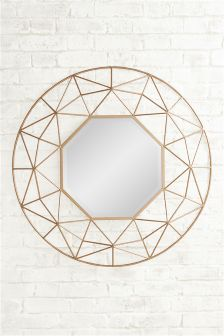 Large Gold Star Mirror