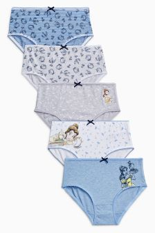 Beauty & The Beast Briefs Five Pack (1.5-12yrs)