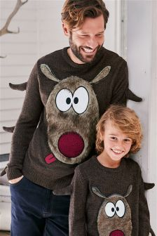 Christmas Reindeer Jumper (Mens)