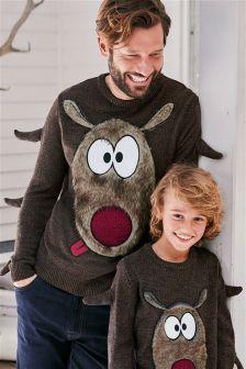 Weihnachtspullover mit Rentiermotiv (Herren)