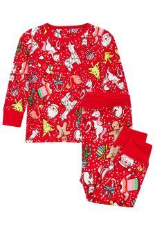 Пижама облегающего кроя с рождественским принтом (9 мес. - 8 лет)