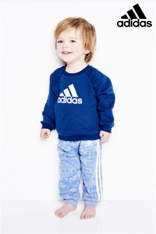 adidas Infant Navy/Grey Terry Tracksuit