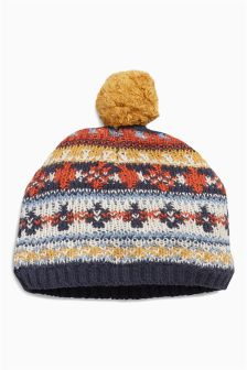 Fairisle Pattern Hat (0mths-2yrs)