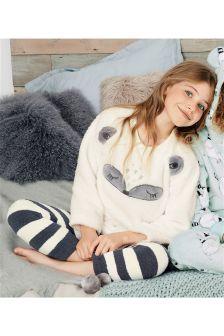 Raccoon Fleece Pyjama Set (3-16yrs)