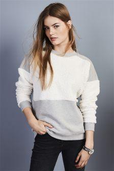 Borg Mix Sweater