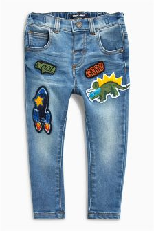 Badged Jersey Jeans (3mths-6yrs)