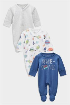 Space Sleepsuits Three Pack (0个月-2岁)