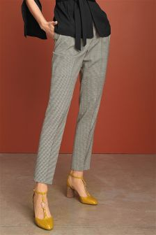 Dogtooth Taper Trousers