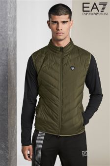 Lekki bezrękawnik Emporio Armani EA7 Shield w kolorze khaki