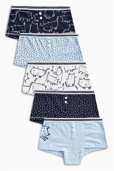 Cat Boxers Five Pack (3-16yrs)