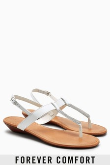 Forever Comfort Mini Wedge Sandals