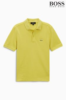 Żółta koszulka polo Hugo Boss