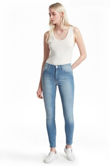 French Connection Blue Five Pocket Cotton Skinny Jeans