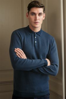 Geo Knitted Polo
