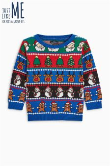 Boys Wrapping Paper Jumper (3 мес.-6 лет)