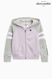 Abercrombie & Fitch Grey Pink Full Zip Hoody