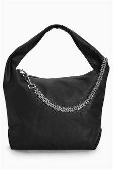 Chain Detail Hobo Bag