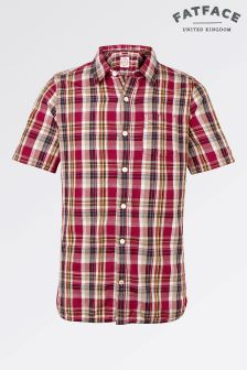 Fat Face Red Alford Check Shirt