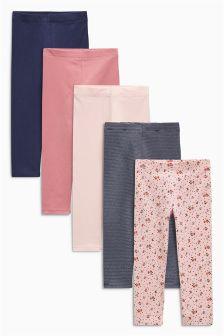 Pack de cinco leggings (3 meses-6 años)