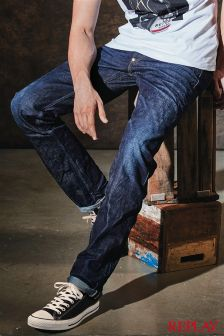Replay® Grover Red Selvedge Straight Leg Jean