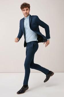 Эластичный саржевый костюм: пиджак