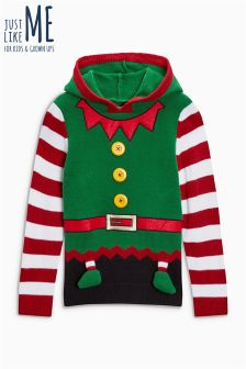 Boys Christmas Elf Sweater (3-16yrs)