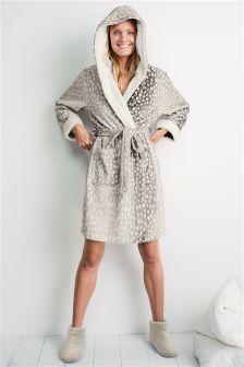 Sparkle Print Robe