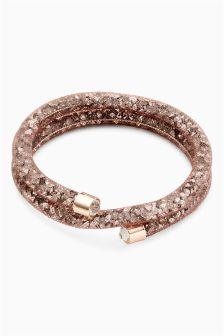Crystal Effect Wrap-Around Bracelet