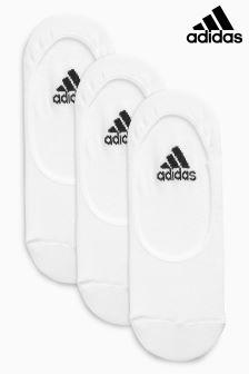 adidas White No Show Socks Three Pack