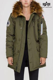 Темно-зеленая куртка в стиле милитари Alpha Industries