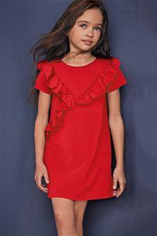 Frill Ponte Dress (3-16yrs)