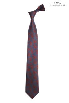 Именной галстук с принтом пейсли