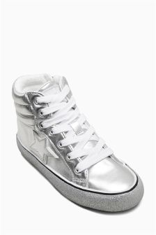 Retro High Top Trainers (Older Girls)