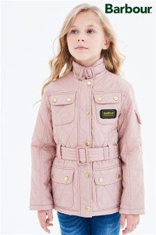Różowa pikowana kurtka Barbour® International