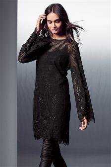 Lace Embellished Dress