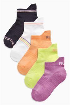 Sports Trainer Socks Five Pack (Older Girls)