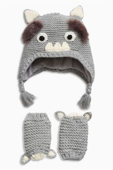 Monster Trapper Hat And Gloves Set (Younger Boys)