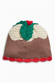 Xmas Pudding Hat (0mths-2yrs)