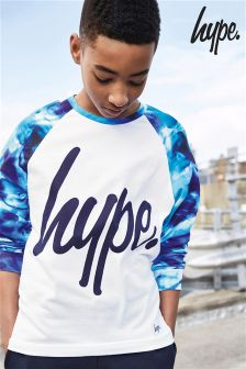Hype. Cyan Drops Printed Raglan Long Sleeved T-Shirt