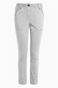 Casual Pocket Straight Leg Trousers