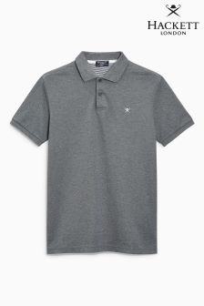 Hackett Grey Tailored Logo Poloshirt