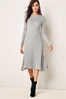 Fluted Rib Dress